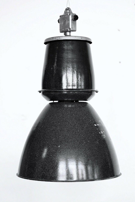 Huge Czeck Black Enamel Light