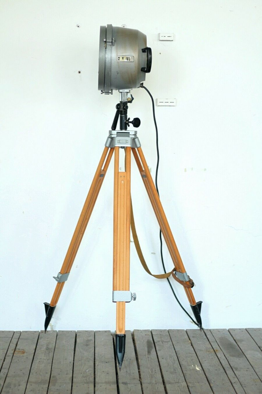 Vintage Polish Tripod Light