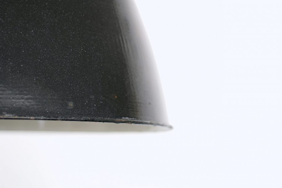 Medium Czeck Black Enamel Light