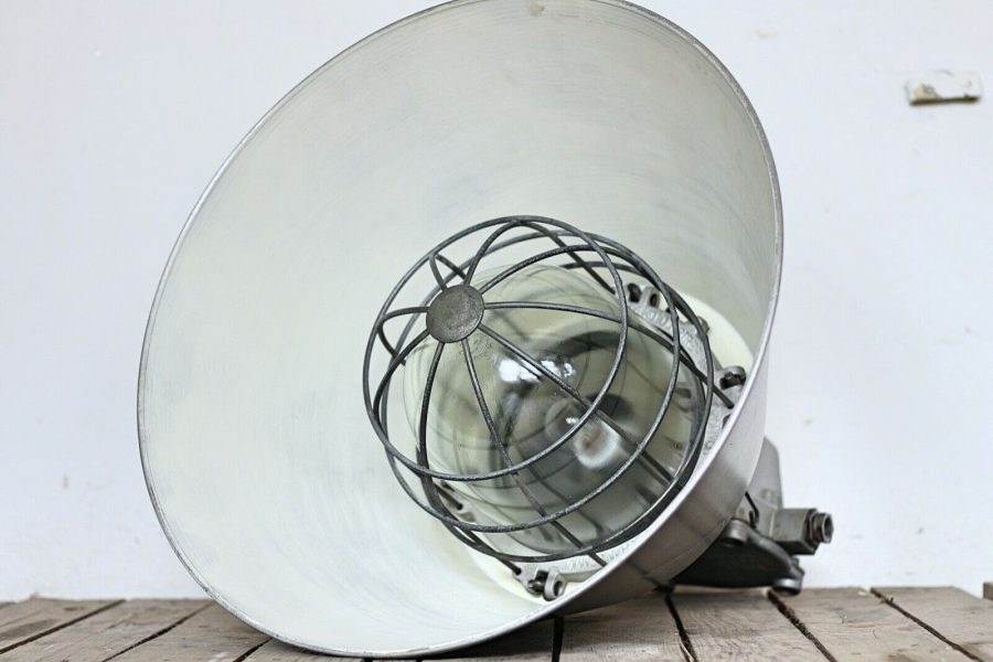 Polish Caged Pendant Lamp